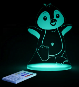 Aloka - Farverig LED-natlampe