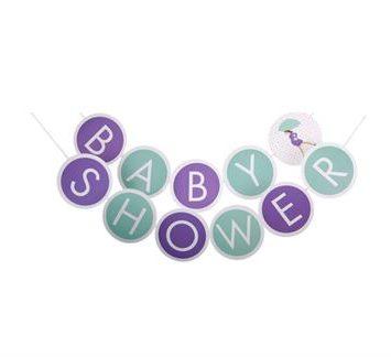 Babyshower banner - Tildenlille