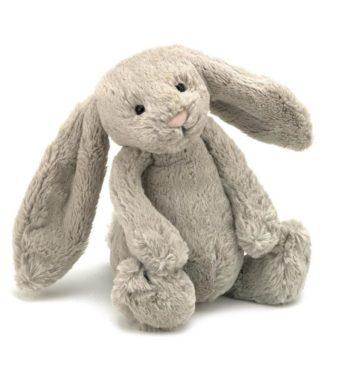 blød kaninbamse i beige