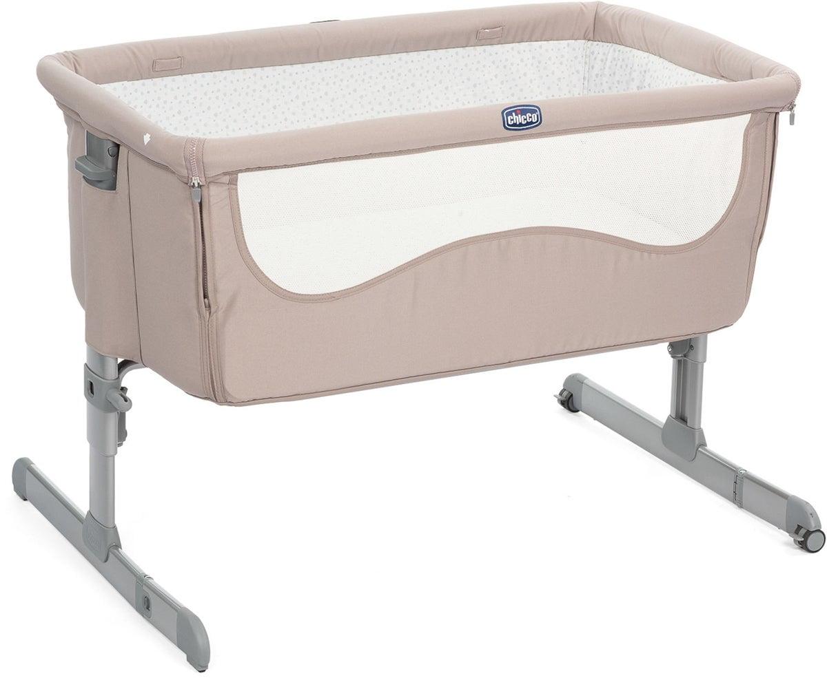 Beige bedside crib