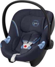 Navy blå autostol