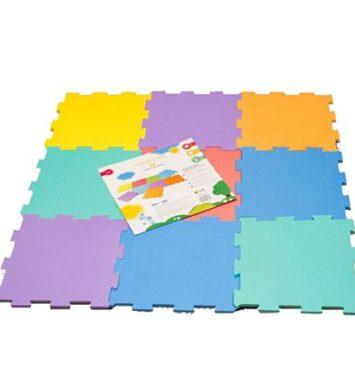 Gulvpuslespil i flere farver