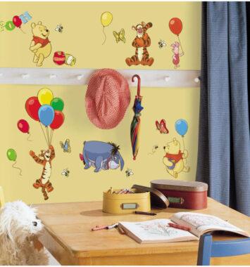 Peter Plys klistermærker til børneværelset