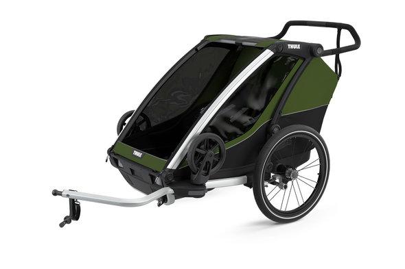 Brun cykeltrailer