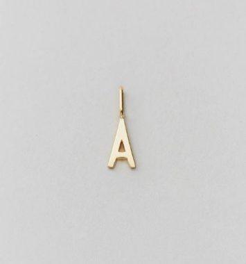 design letters halskaede guld vedhaeng