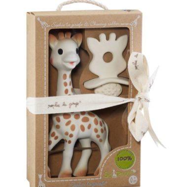 gaveaeske med giraf og bide ring