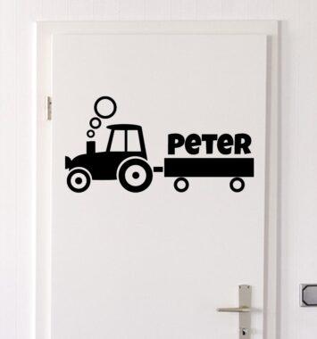 Traktor klistermærke til væggen