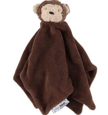 baby nusseklud formet som abe i farven brun