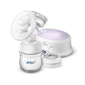 hvid og simpel elektronisk brystpumpe