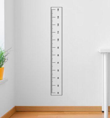 lineal klistermærke til børneværelset